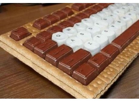 teclado chocolate